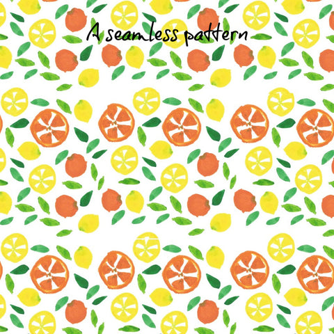 Digitized hand-painted seamless pattern | DivineNY.com
