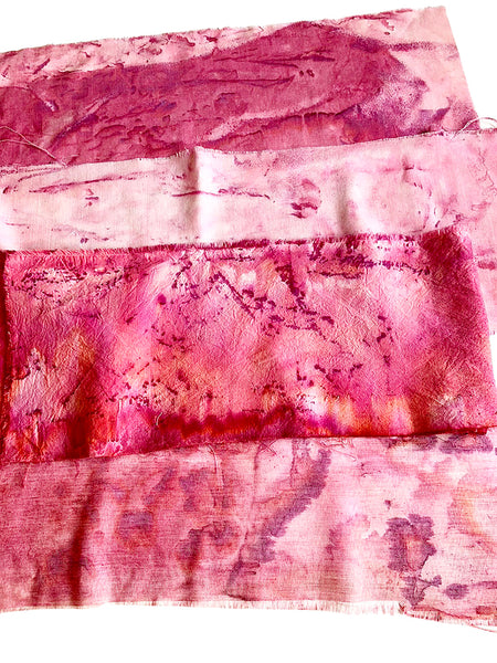 example of hand dyed lightweight cotton in pink