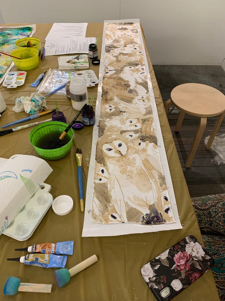 Silk painting workshop at Artist and Fleas in Soho | DivineNY.com