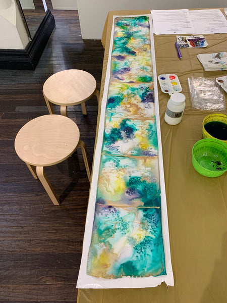 A student creation at my silk painting workshop | DivineNY.com