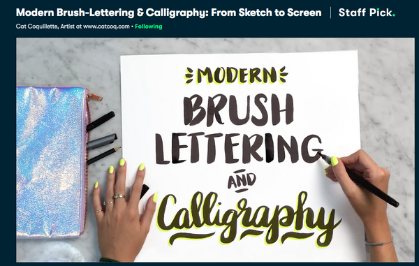 Skillshare-Brush-Lettering-and-Calligraphy | DivineNY.com