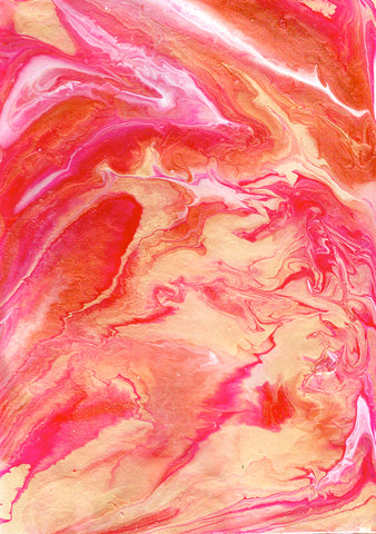 Abstract art with fluid acrylic using a paint pouring technique