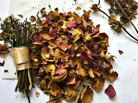 Flower petals from a dried wedding bouquet | DivineNY.com