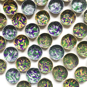 Bulk Gifts Polymer Clay Marbled Ring Dish, 25 pieces