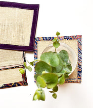 Load image into Gallery viewer, Burlap Plant Coasters for Drinks, Candles and Plants