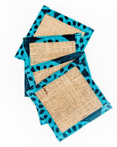 Burlap Coasters for Drinks, Candles and Plants