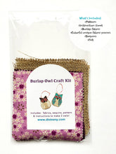 Load image into Gallery viewer, Burlap Owl Craft Kit