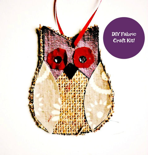 Burlap Owl Craft Kit