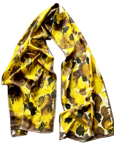 Animal Print Hand Painted Silk Scarf