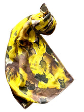 Load image into Gallery viewer, Animal Print Hand Painted Silk Scarf