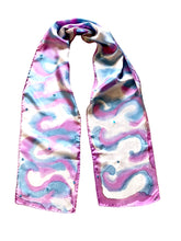 Load image into Gallery viewer, Tie Dye Hand Painted Silk Scarf
