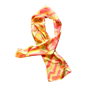 Zig Zag Hand Painted Silk Scarf