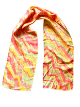 Load image into Gallery viewer, Zig Zag Hand Painted Silk Scarf