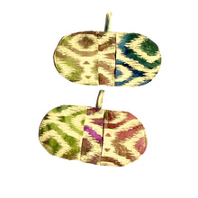 Load image into Gallery viewer, Mini Oven Mitts in Ikat Print Fabric, Set of 2