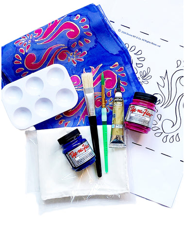 Henna Motif Pattern Silk Painting Kit