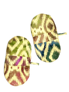 Mini Oven Mitts in Ikat Print Fabric, Set of 2