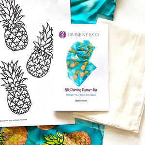 Silk Painting Pattern Kit and Guidebook-Pineapple Pattern