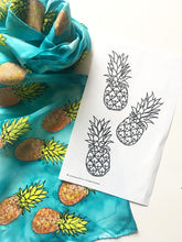 Load image into Gallery viewer, Pineapple Pattern Silk Painting Kit
