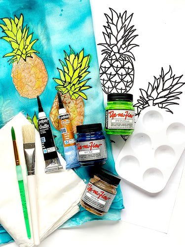 Pineapple Pattern Silk Painting Kit