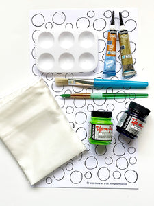 Polka Dot Pattern Silk Painting Kit