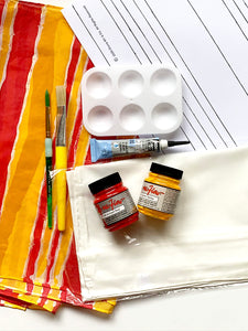 Stripe Pattern Silk Painting Kit
