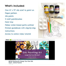 Load image into Gallery viewer, Flower Pattern Silk Painting Kit - Violet