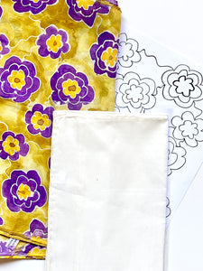 Silk Painting Pattern Kit and Guidebook-Flower Pattern