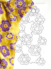 Load image into Gallery viewer, Silk Painting Pattern Kit and Guidebook-Flower Pattern