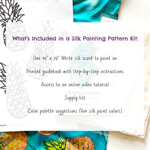 Load image into Gallery viewer, Silk Painting Pattern Kit and Guidebook-Pineapple Pattern
