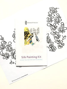 Silk Painting Kit, Henna Pattern