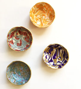 Polymer Clay Marbled Ring Dish, Set of 4, Surprise Box