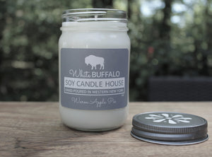 White Buffalo Soy Candle House Mason Jar Soy Candles in 12oz Jar