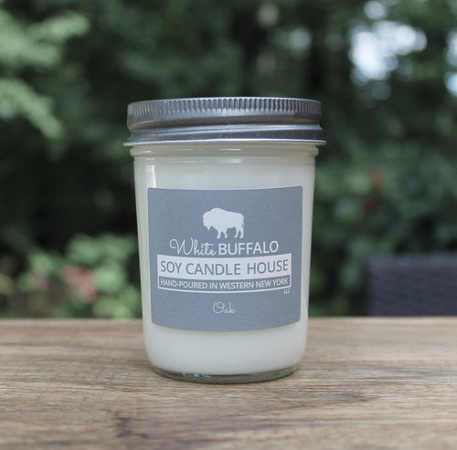 White Buffalo Soy Candle House Mason Jar Soy Candles in 8oz Jar