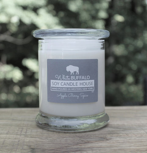White Buffalo Soy Candle House Status Jar Soy Candles in 12oz Jar