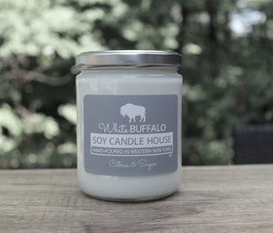 White Buffalo Soy Candle House Classic Jar Soy Candles in 16oz Jar