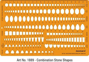 1889 Combination Stone Shapes Template