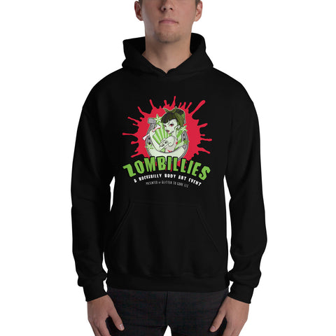 Zombillies Gildan Heavy weight Hooded Sweatshirt