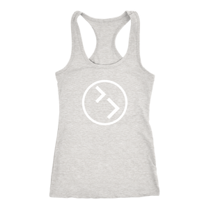 Womens Racerback - White Circle