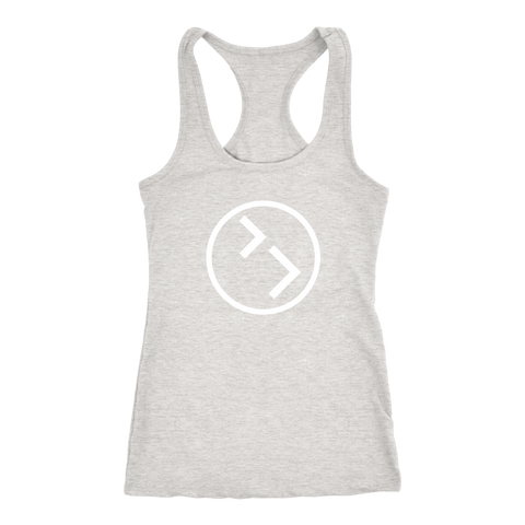 Image of Womens Racerback - White Circle