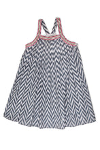 MILA DRESS - GREY CHEVRON