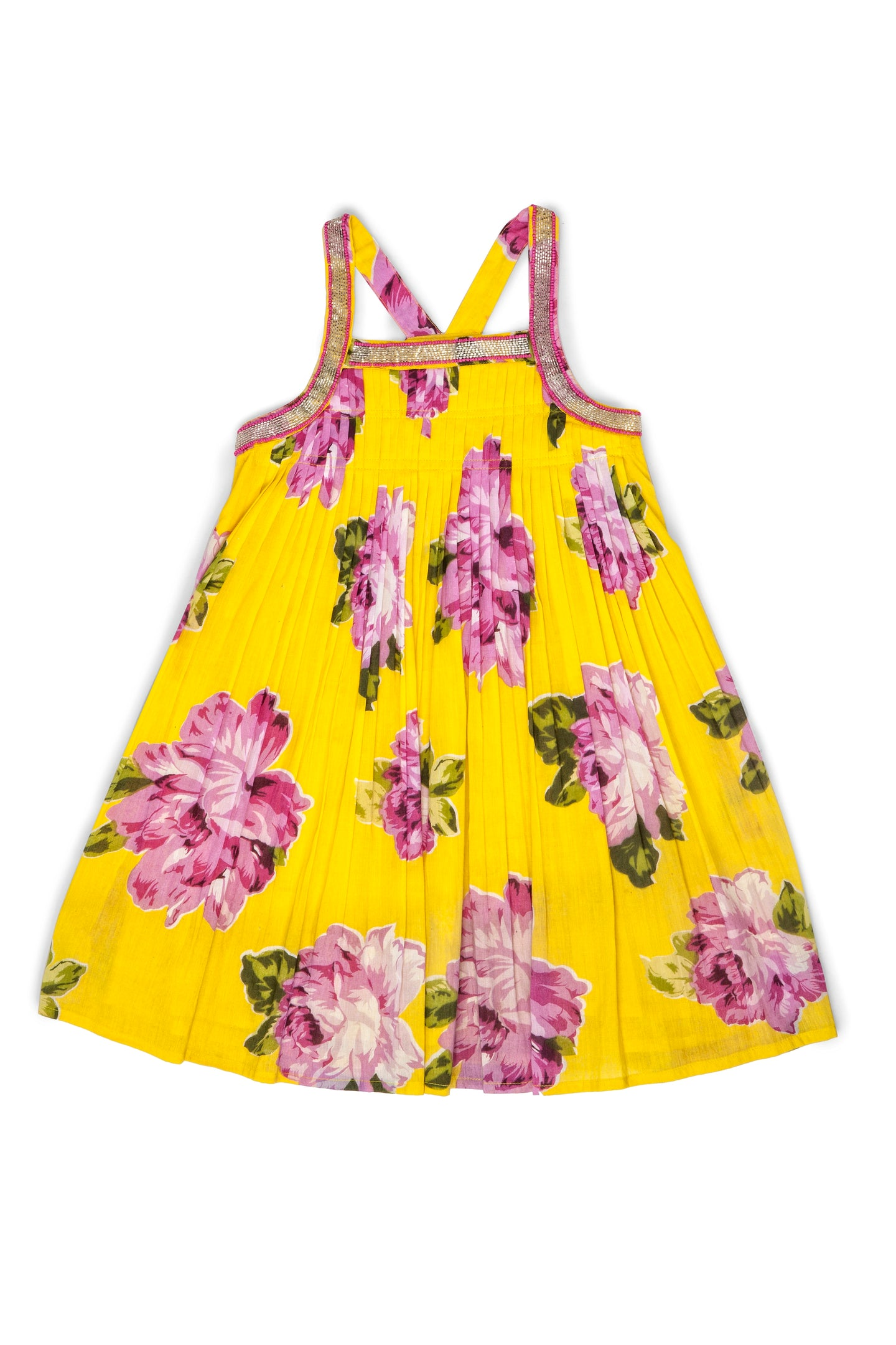 MILA DRESS - YELLOW FLORAL