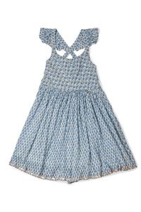 ALIA DRESS - BLUE MOTIF