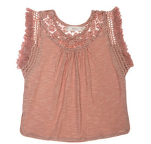 TENLEY FRINGE TOP-ROSE