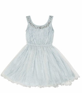HAND EMBROIDERED ICE BLUE DRESS