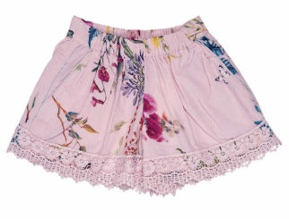 LACE SHORTS - PINK FLORAL