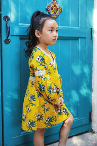 YELLOW FLORAL TUNIC