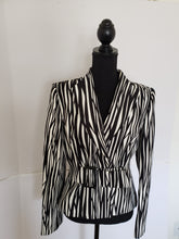 Load image into Gallery viewer, Zebra Print Blazer (Liz Claiborne)