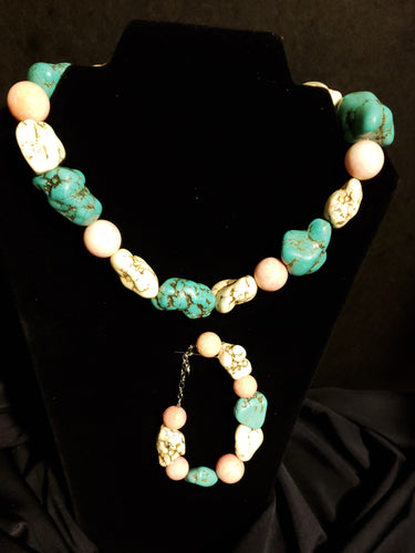 Rock Necklace and Bracelet Set
