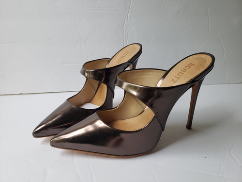 Schultz    Bronze Mule Shoes Made in Brazil