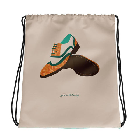 jazz dance bag, drawstring shoe bag for lindy hoppers and swing dancers